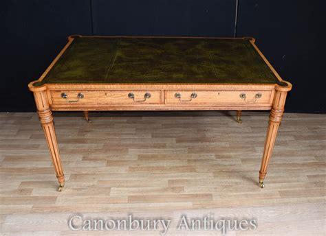tables bureau regency gillows writing table desk leather top bureau