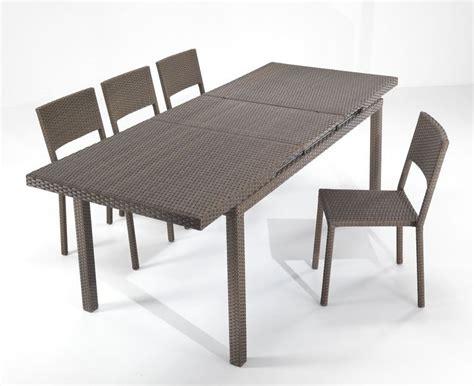 tavoli in rattan sintetico tavolo rattan sintetico allungabile