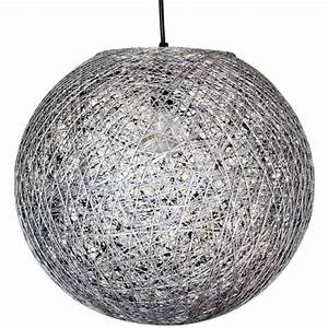 Boule Papier Luminaire : suspension boule sisal gris achat vente suspension boule sisal gris fibre naturelle cdiscount ~ Teatrodelosmanantiales.com Idées de Décoration
