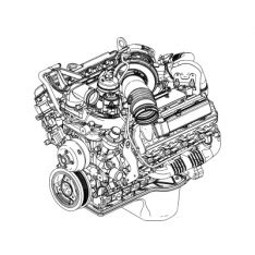 Ford 6 0l Engine Diagram by Engine Parts Ford 6 0l Powerstroke 2003 2007 Xdp