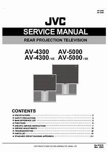 Jvc Av4300 Projection Tv Sm Service Manual Download