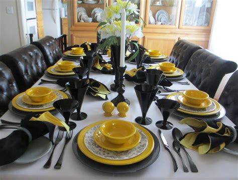 welcomed guest fiesta daffodil table