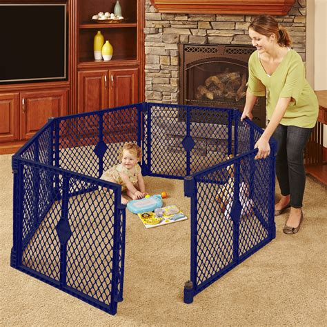 6 panel play yard portable indoor outdoor baby playpen safety gate panel pen new ebay
