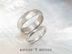 hand forged platinum wedding band set his and hers With his and hers platinum wedding rings