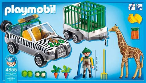 playmobil auto mit anhänger playmobil 174 zoo fahrzeug mit anh 228 nger duo shop de