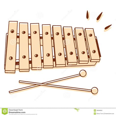 xylophone isolated stock vector illustration  tune