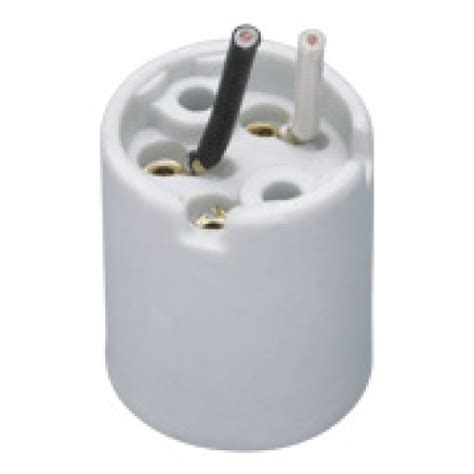 porcelain l socket with leads 4kv medium e26 porcelain socket c w screws leads