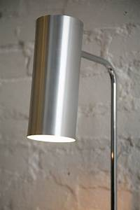 Modernist floor lamp by habitat cream and chrome for Habitat chrome floor lamp