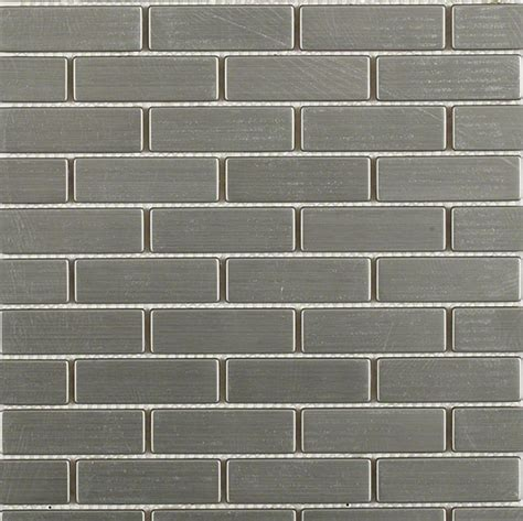 shop for stainless steel 75 quot x2 5 quot metal tile brick