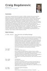 it staffing account manager resume senior recruiter resume sles visualcv resume sles database
