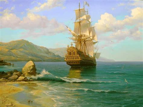 Imagenes De Barcos Piratas Antiguos by Cuadros Pinturas Oleos Cuadros De Paisajes Marinos Con