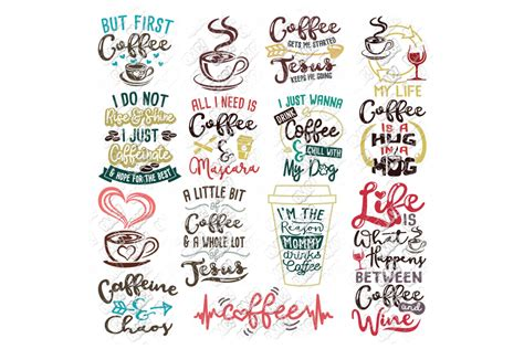 This vinyl is permanent adhesive vinyl and works well with mugs. Coffee SVG Bundle in SVG/DXF/PNG/JPEG/EPS (97286) | Cut Files | Design Bundles