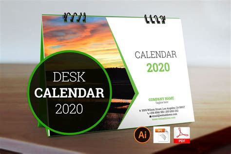 desk calendar stationery templates creative market