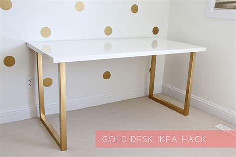 Schreibtisch Bei Ikea by Dein Ikea Schreibtisch Im Gold Look New Swedish Design