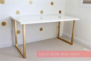 Ikea Schreibtisch Hack : dein ikea schreibtisch im gold look new swedish design ~ Watch28wear.com Haus und Dekorationen