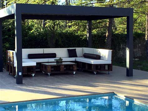 diy pallet patio sofa set poolside furniture  pallets