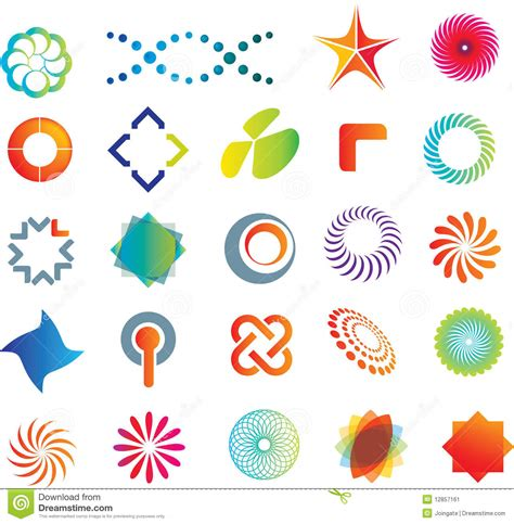 Abstract Shapes Names by Abstract Logo Shapes Stock Vector Image Of Abstract