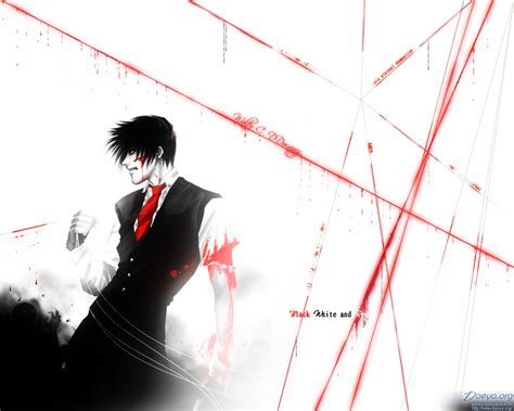 red  black anime wallpaper  wallpapersafari