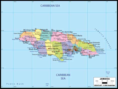 maps map jamaica