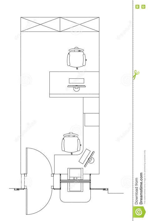 Standard Furniture Symbols Used In Architecture Stock