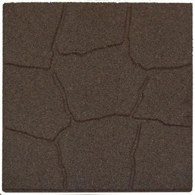 home depot rubber flooring tiles envirotile 18 in x 18 in flagstone earth rubber paver
