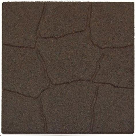 recycled rubber flooring home depot envirotile 18 in x 18 in flagstone earth rubber paver