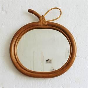 Petit Miroir Rotin : miroir rotin vintage pomme atelier du petit parc ~ Melissatoandfro.com Idées de Décoration