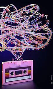 Cassette Tape Unwinding Colors Digital Art by Allan Swart