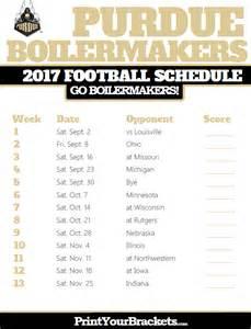 Printable Football Schedule 2017