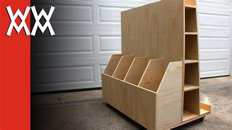 build  lumber storage cart   workshop youtube