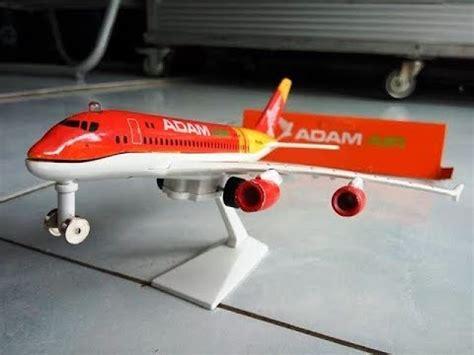 unboxing pesawat adam air plane mainan anak quot seharga 45 000