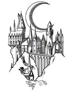 Hogwarts Zeichnung Doodle - #Doodle #drawing #Hogwar - #Doodle #drawing #doodle #drawing