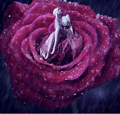 Animated Rain Flower Rose Raining Deviantart Animation