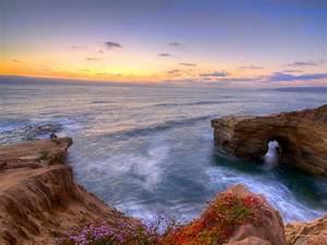 Sunset, Cliffs, Natural, Park