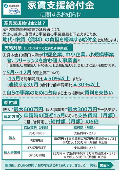 東京 家賃 支援 給付 金
