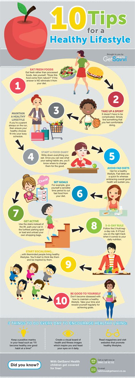 10 Tips For A Healthy Lifestyle [infographic]