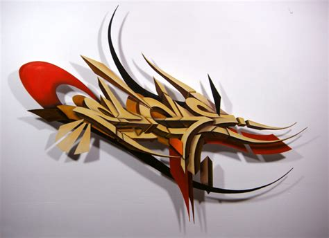 Graffiti Nama Riyan : Victor Malagon's Wood Cut Graffiti