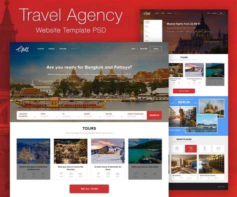 Tourism Website Design Free Templates by Travel Agency Website Template Psd Psd