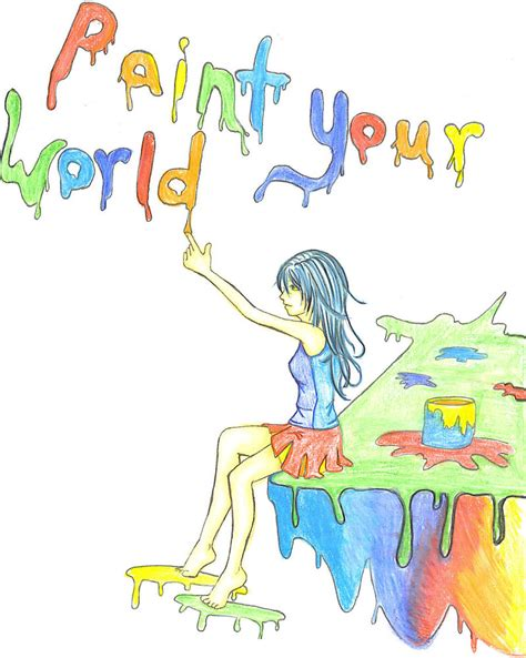 paint your world color pencil by hellopanda77