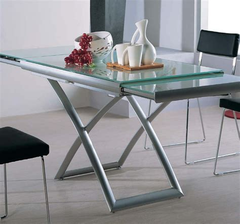 glass kitchen tables transforming extending glass table expand furniture