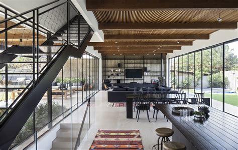 modern house  israel   dramatic  warm atmosphere