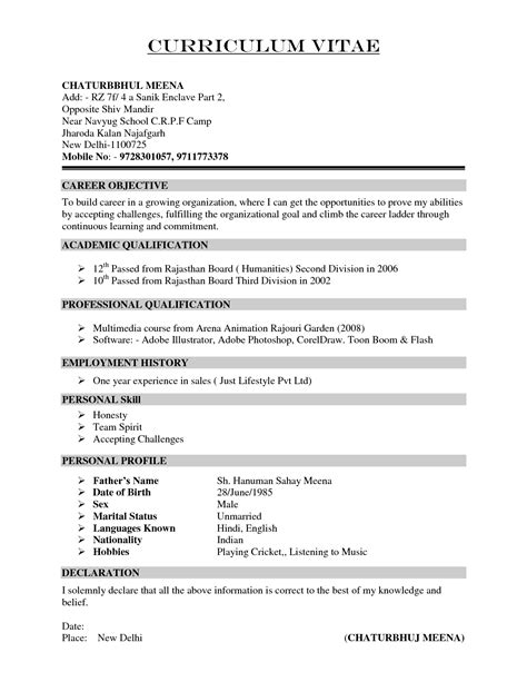 what interests to put on resume how to write a cv