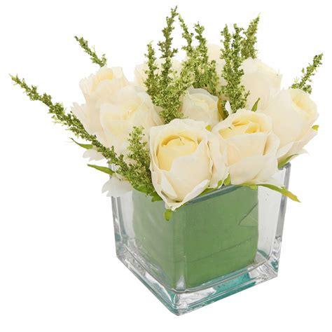 Glass Vase Arrangements by Square Vase Floral Arrangement