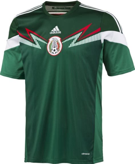 New Mexico 201415 Soccer Jersey Adidas Mexico Home 2014