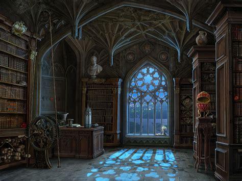 artstation library background  miniscenes  curse