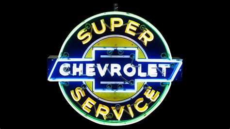 Chevrolet Super Service Neon Sign Sspn 50x42x11