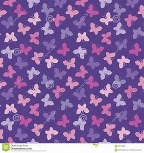 Seamless Hipster Background Butterflies Pink Purple Stock ...