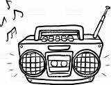 Radio Clipart Player Cassette Vector Dibujo Blanco Illustration Cartoon Radios Listening Station Box Negro Google Buscar Con Tape Electrical Sound sketch template