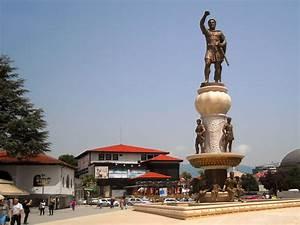 Statue Of Philip Ii Skopje Republic Of Macedonia Wallpaper