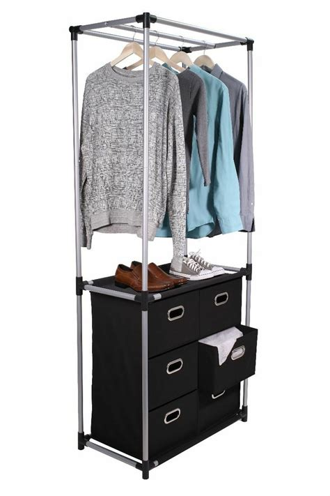 Portable Closet Rack by Tidy Living 6 Drawer Closet Portable Wardrobe Clothes
